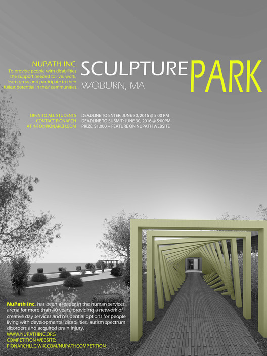 Call for Entries: Nupath Sculpture Competition , Nupath Schulpture Competition Poster
