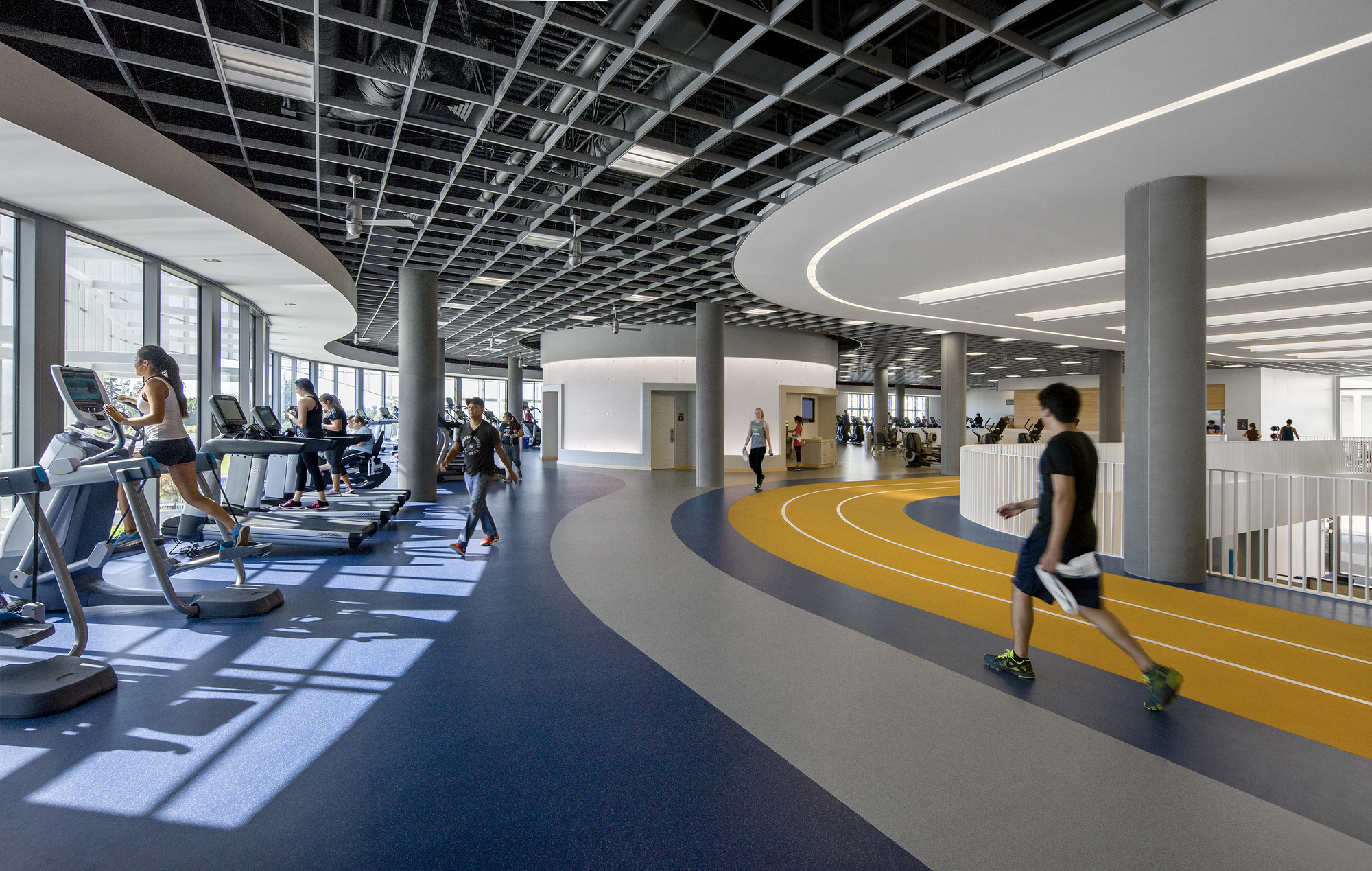 Here is the inside of a school gym.