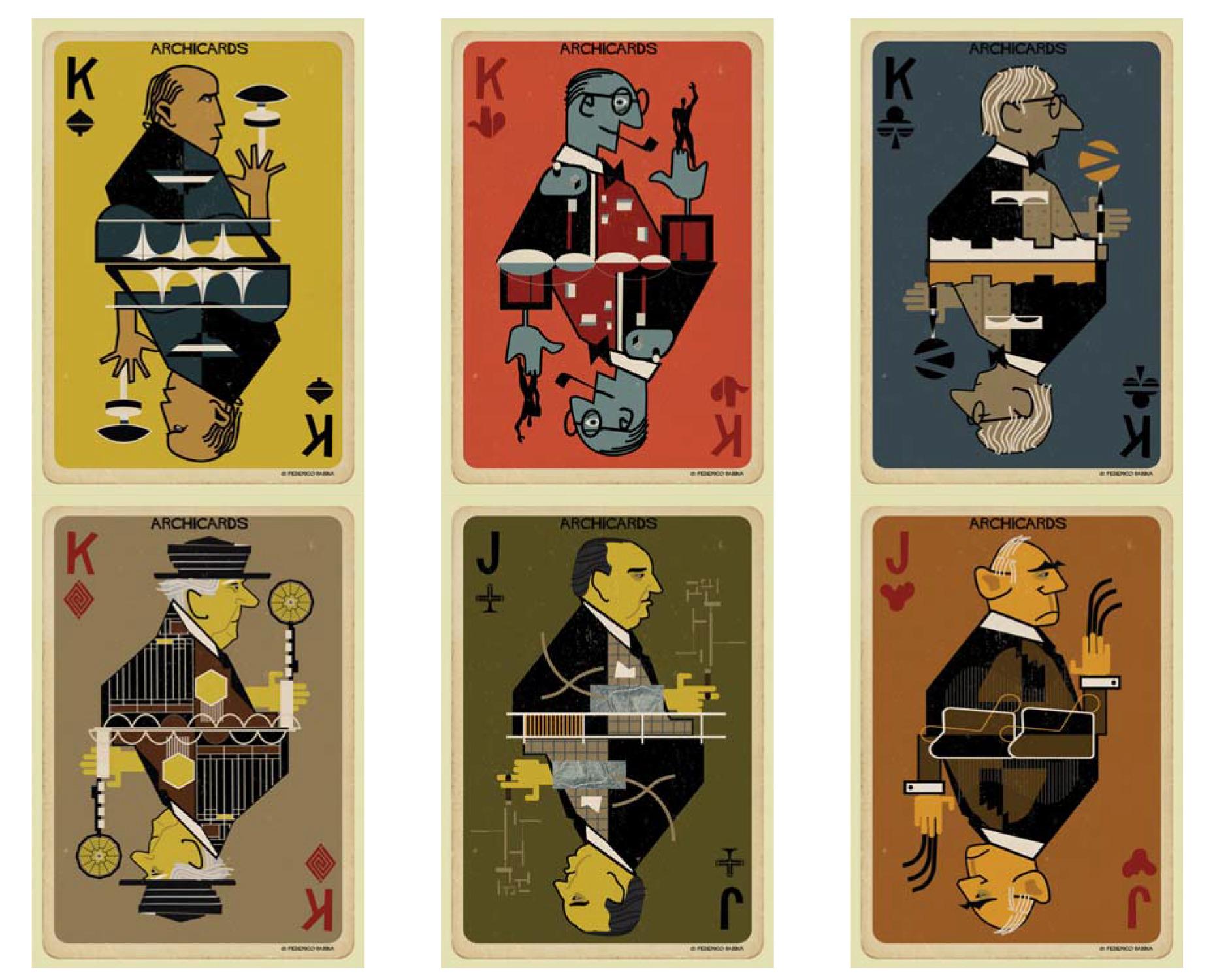 Federico Babina reimagina a los arquitectos más famosos de la historia en un juego de naipes