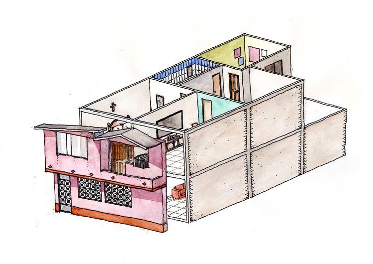 ¿Qué es lo huachafo en la arquitectura?, Vivienda informal en su tercera etapa. Image © Mauricio Jumpa