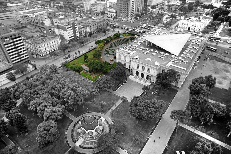 Call for Entries: MALI's New Contemporary Art Wing in Lima, Peru, Aerial view of site.