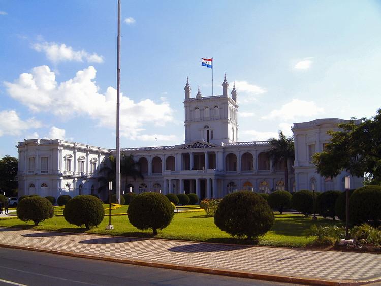 Paraguai lança concurso internacional para a nova sede dos escritórios do Governo, Palácio do Governo em Assunção, Paraguai. Image © Jan Pešula, via Wikimedia Commons. CC