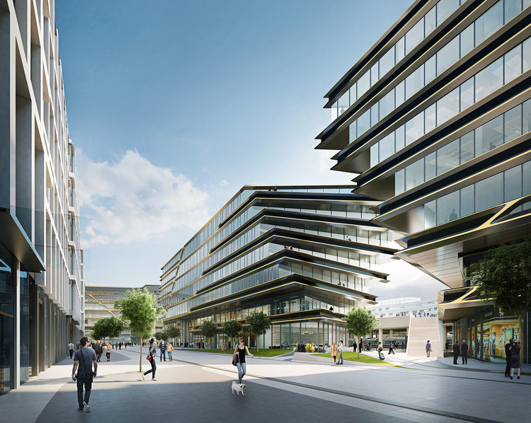 Zaha Hadid Architects Will Develop Brownfield Site Adjacent to Prague's Railway Station, Courtesy of Zaha Hadid Architects