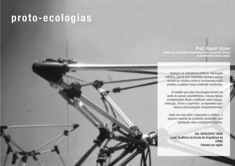 """Palestra com Ruairi Glynn - """"Proto-ecologias"""", Produzido pelo Lagear com imagem do Interactive-Architecture Lab."""