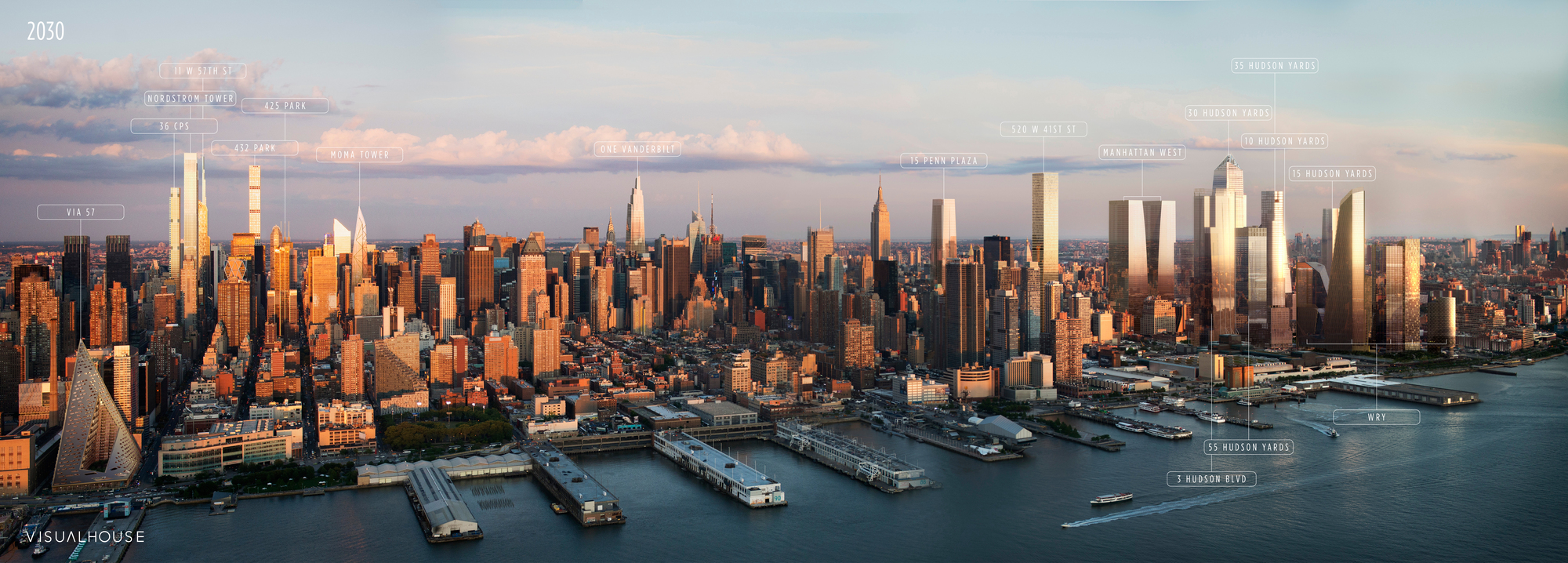 New York 2030: This Annotated Visualization Shows Us the Manhattan of the Future