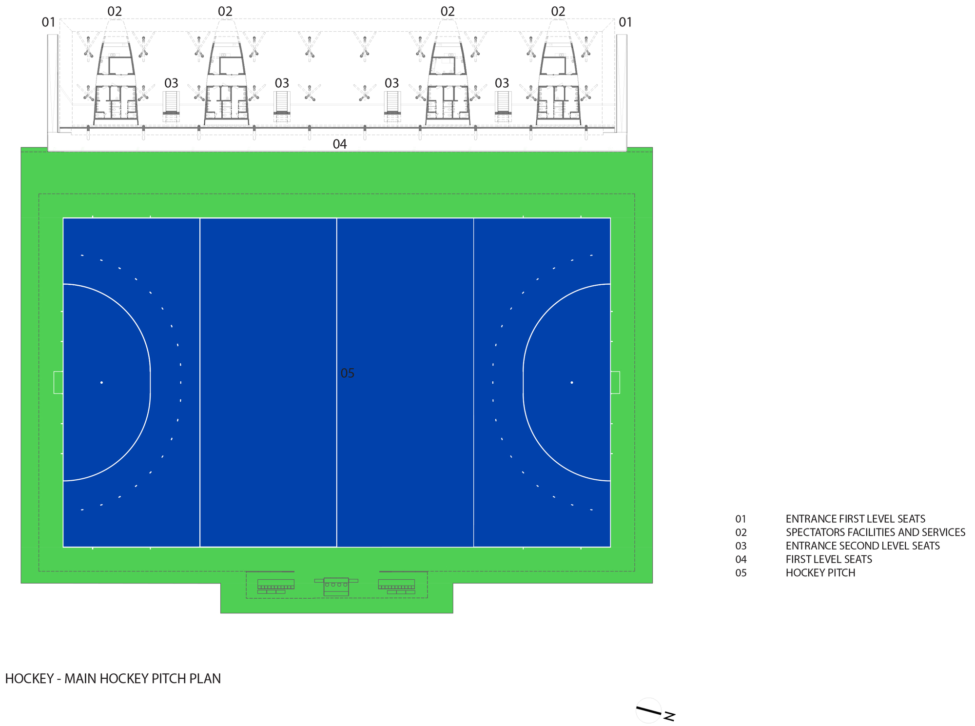 Food Court Floor Plan Gallery Of Olympic Field Hockey Center Vigliecca