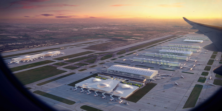 Zaha Hadid Architects and Others Envision Heathrow's Future , Zaha Hadid Architects Vision. Image Courtesy of Heathrow Media Centre