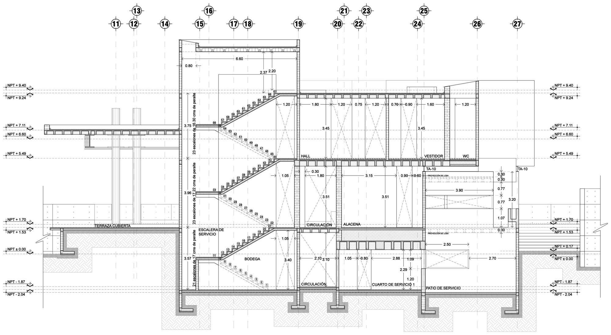 Galer a de casa jerbana reims arquitectura 58 for Escaleras para planos