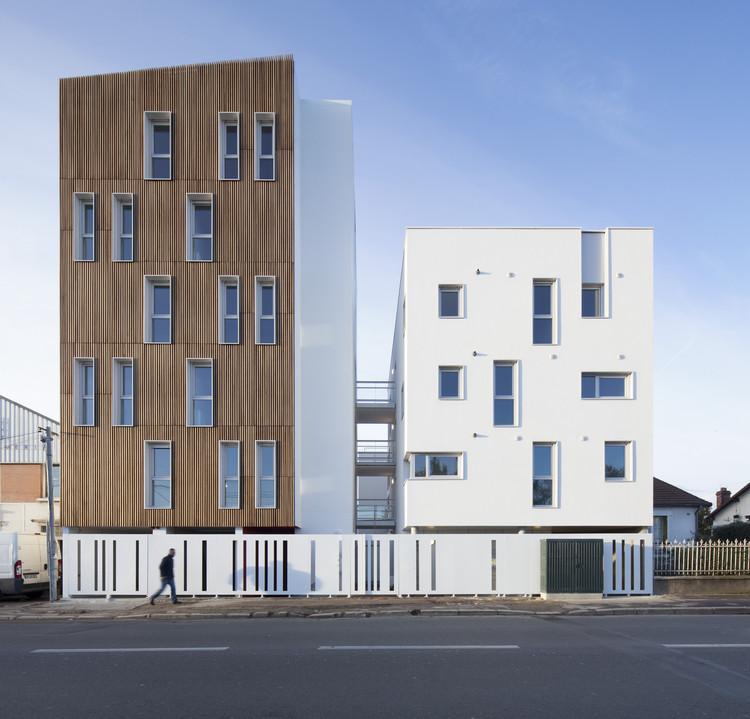 16 unidades de vivienda social / Atelier Gemaile Rechak, © Milene Servelle