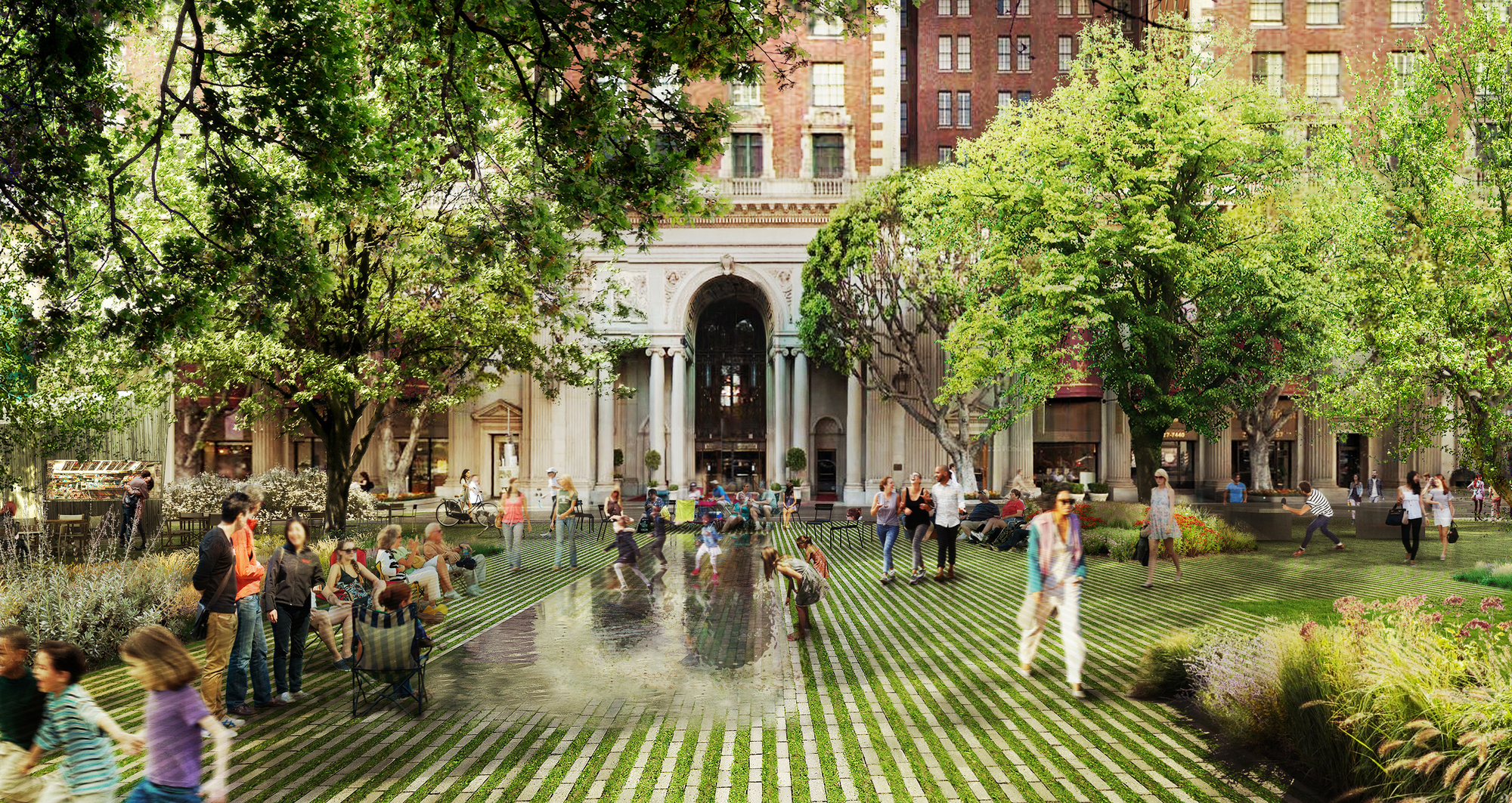 agence ter selected to redesign la s pershing square with proposal