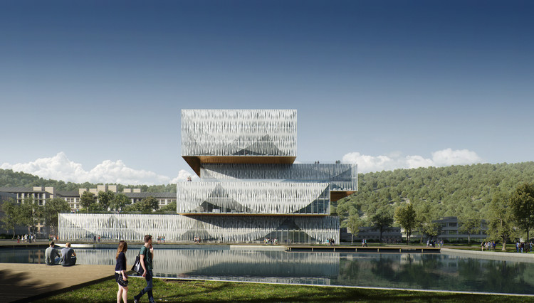 Schmidt Hammer Lassen Wins Competition for New Student Center and Library in China, © Beauty & The Bit