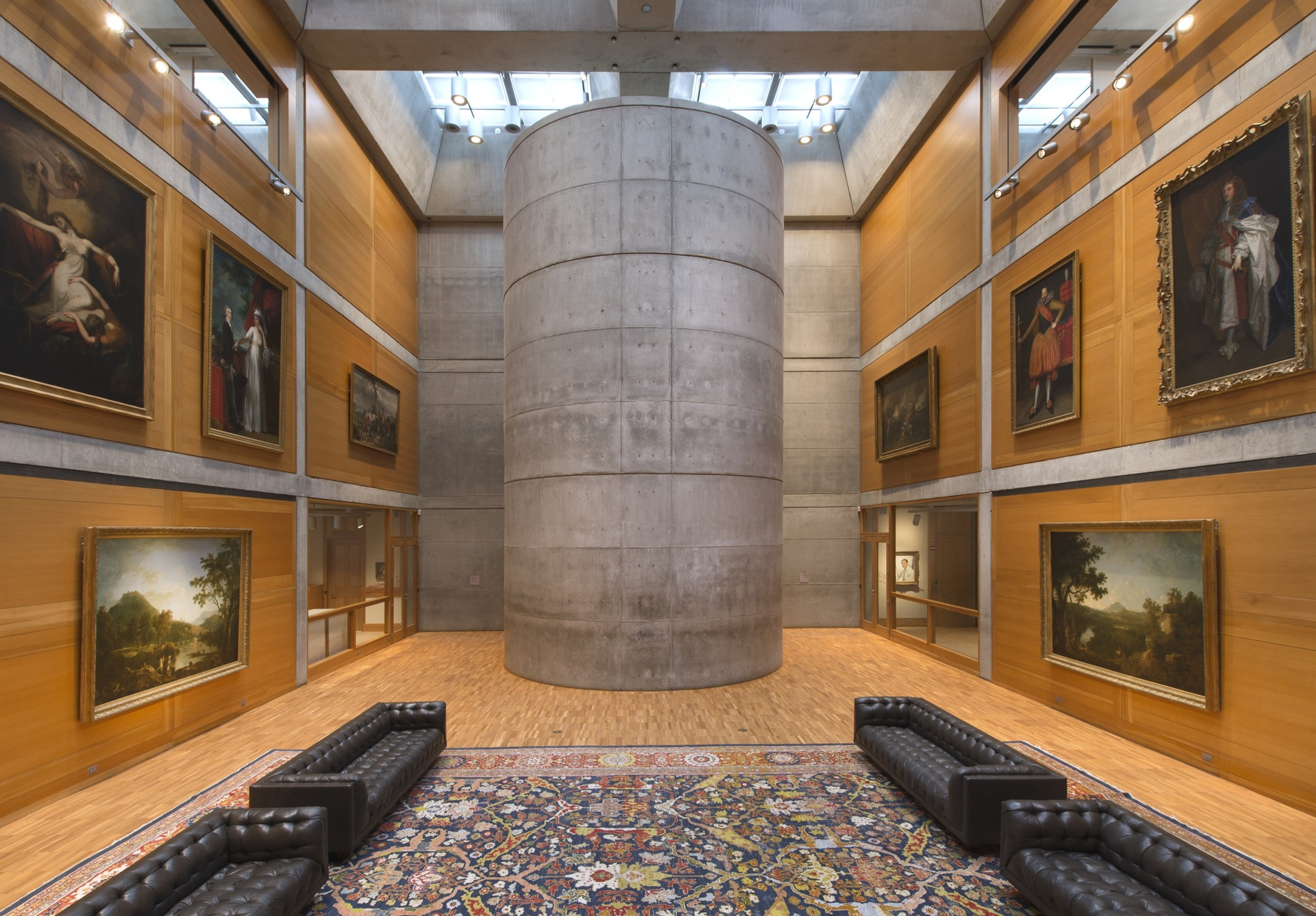 Louis kahn 39 s yale center for british art reopens after Art gallery interior design