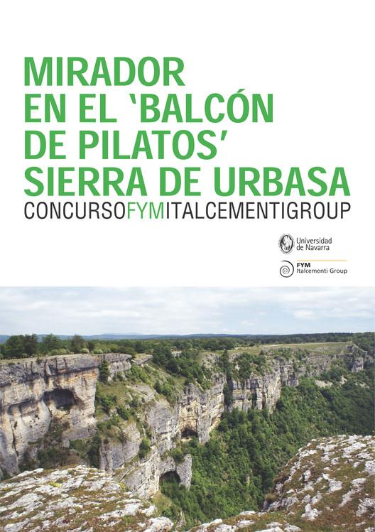 Concurso de proyectos FYM Italcementi Group: mirador en en la Sierra de Urbasa , Portada cartel concurso FYM-Italcementi Group