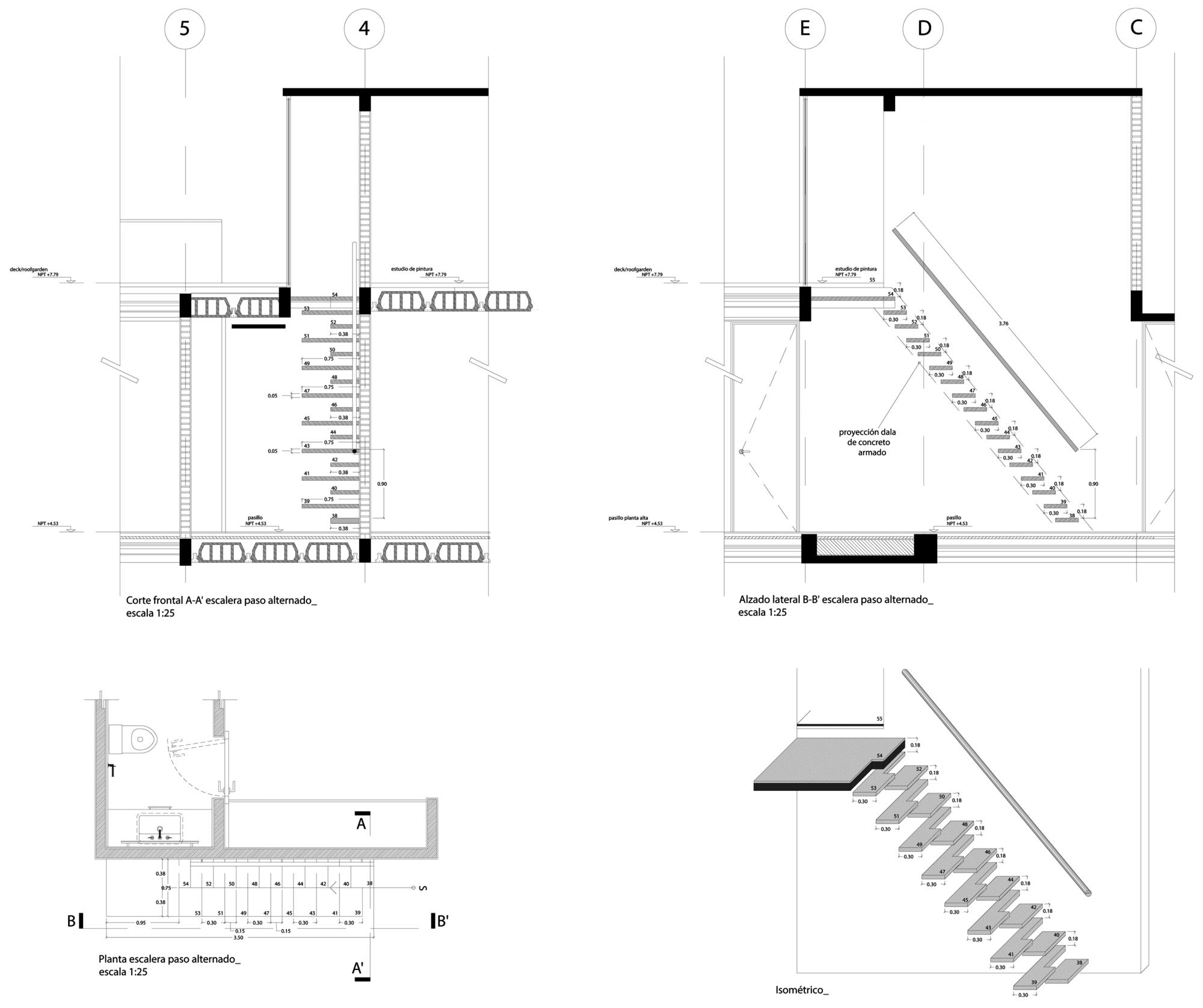 Galeria de casa valna jsa arquitectura 20 for Escaleras 45 grados