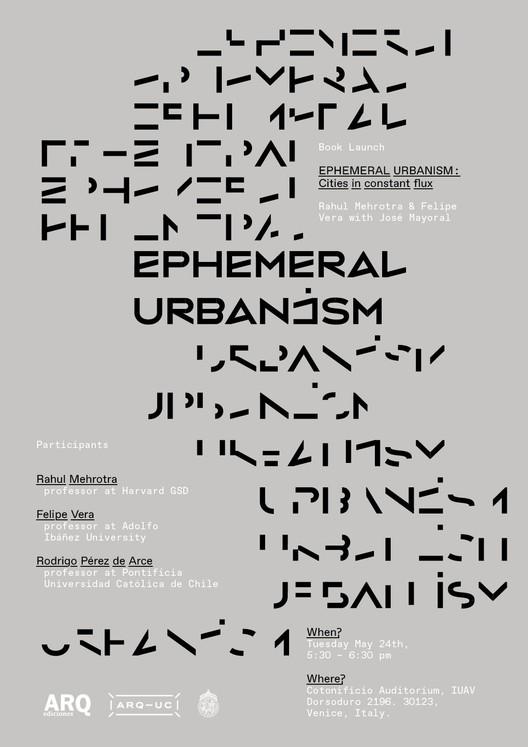 Lanzamiento de 'Ephemeral Urbanism. Cities in constant flux' en Venecia