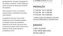 Concurso de ideias para estudantes de arquitetura Projetar.org #016 Infopoint Olimpíadas