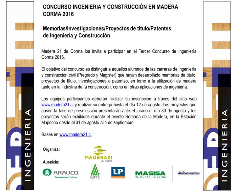 III Concurso Ingeniería y Construcción en Madera Corma 2016, Madera21