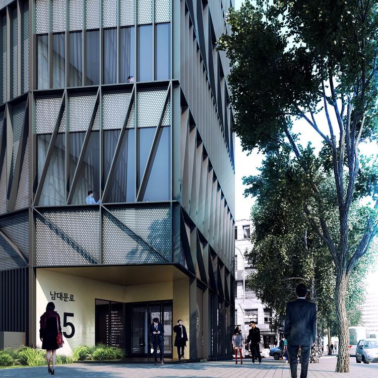 Mecanoo Unveils Namdaemun Office Building in Seoul, Courtesy of Mecanoo
