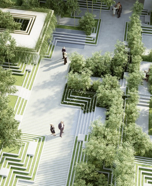 A new landscape by penda is inspired by indian stepwells for Indian home garden design
