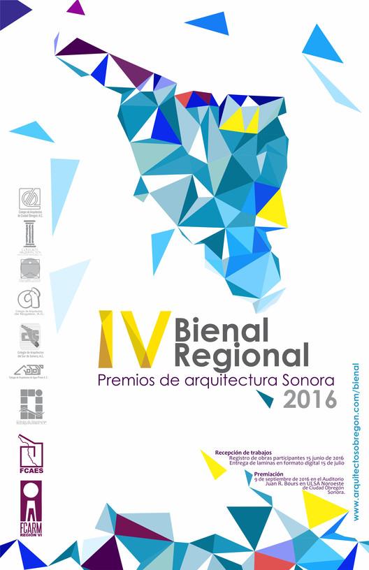 IV Bienal Regional, Premios de Arquitectura Sonora 2016, Logotipos y diseño por el Arq. Daniel Almada Ibarra, presidente del Colegio de Arquitectos de Puerto Peñasco A.C.