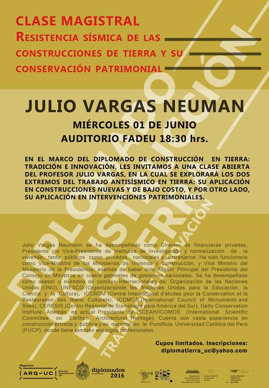 Clase Magistral Julio Vargas Neuman. Resistencia sísimica de las construcciones en tierra y su conservación patrimonial, Lorena Pérez Leighton