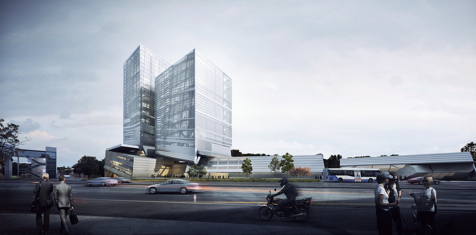 outside the box office. Competition Proposal By Preliminary Research Office Thinks \u201cOutside The Box\u201d,Exterior Rendered View Outside Box O