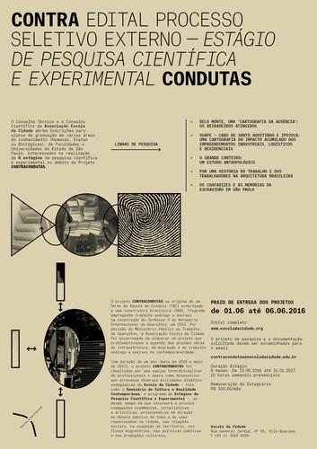 Escola da Cidade abre processo seletivo externo para estágio de pesquisa científica e experimental