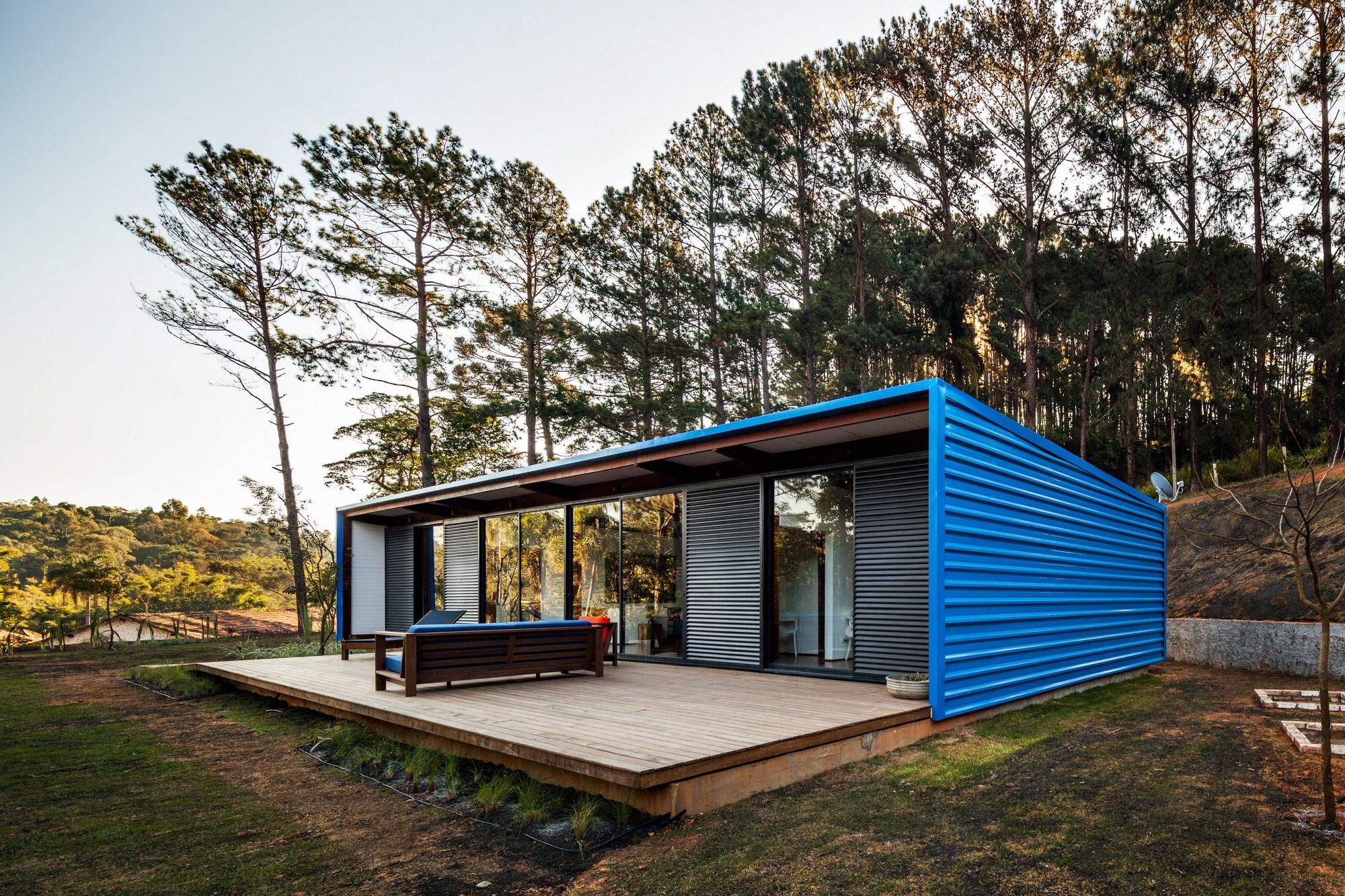 Resid ncia oz andrade morettin arquitetos associados for Casa minimalista rustica
