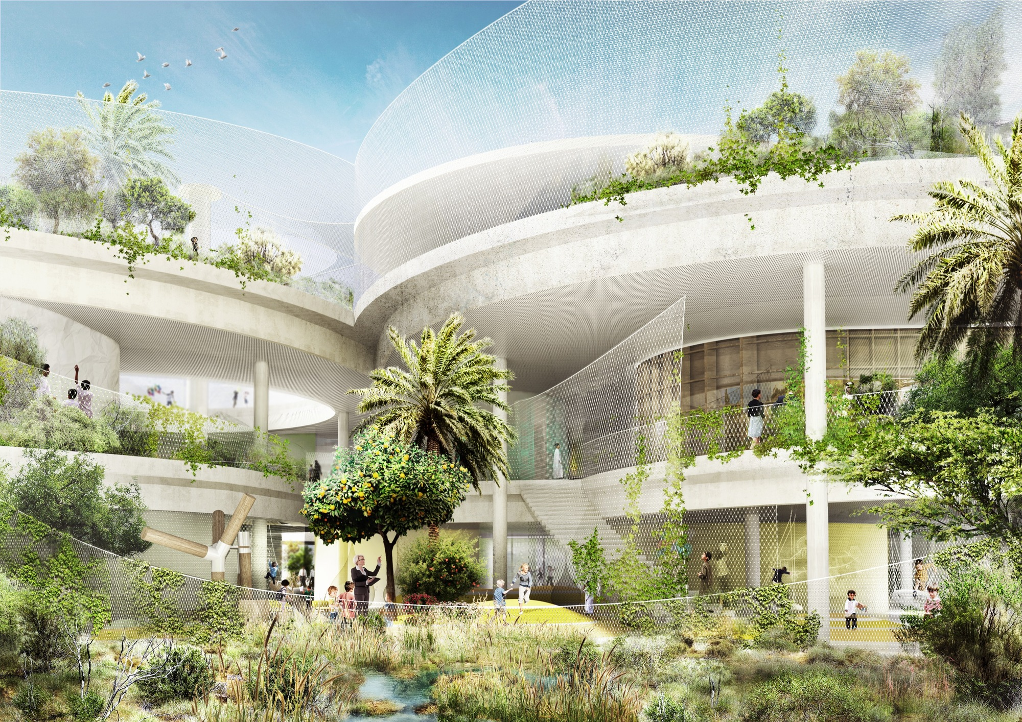 Architecture Design In Dubai gallery of cebra and sla design a school for the sustainable city