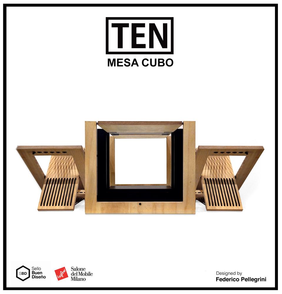 Galeria De Mesa Lateral Dobr Vel Ten Muebles 25 # Federico Muebles