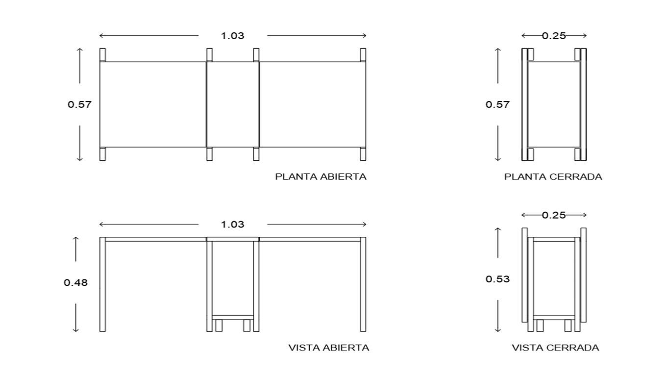 Galeria De Mesa Lateral Dobr Vel Ten Muebles 21 # Federico Muebles