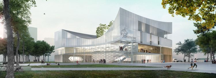 Tetrarc Architects Unveils Design Proposal for the Rennes Conservatory , © AirStudio