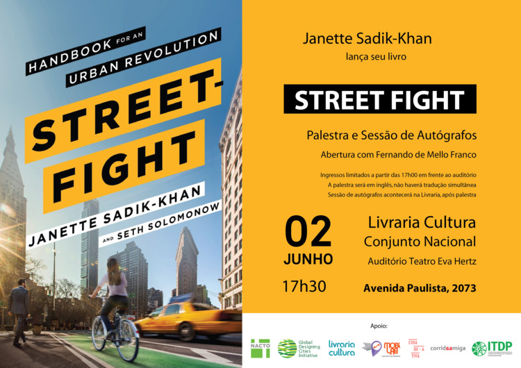 """Lançamento do livro """"Street-Fight"""" com Janette Sadik-Khan"""