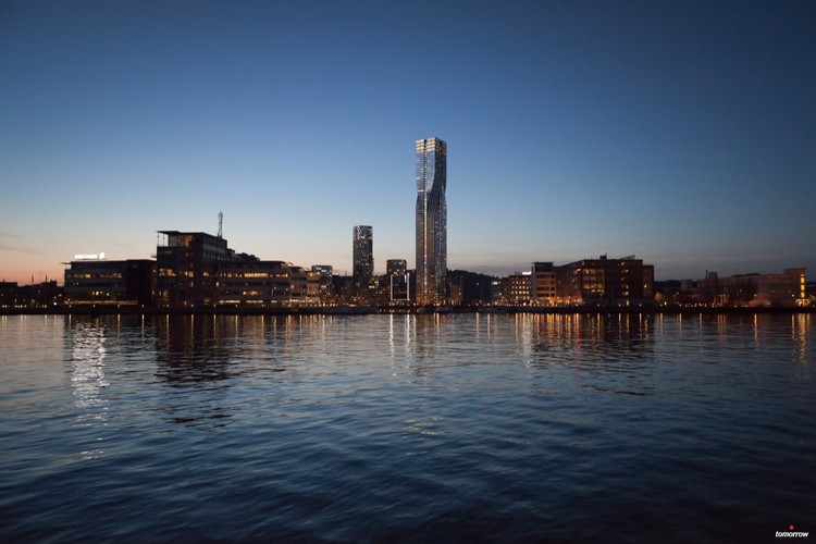 SOM + Entasis revelan nuevas imágenes del rascacielos Karlatornet en Gotemburgo , Cortesía de Tomorrow