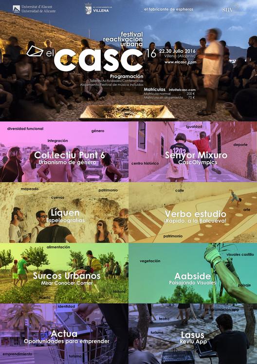 Festival de reactivación urbana, arte y arquitectura. elCASC 2016. 4ª Edición, Cartel de talleres elCASC 2016