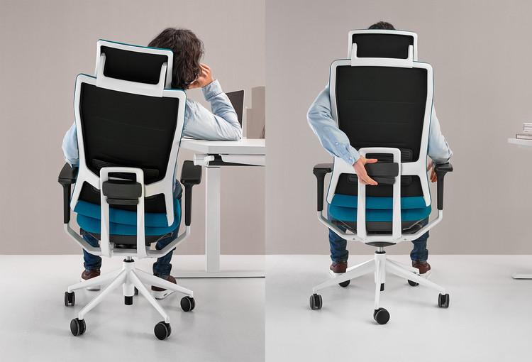 TNK Flex: silla ergonómica y ajustable al cuerpo humano y sus movimientos, Cortesía de Actiu