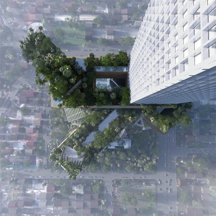 Are Tree-Covered Skyscrapers Really All They Set Out to Be?, Peruri 88, a 400-meter proposal by MVRDV for Jakarta. Image Courtesy of RSI-Studio