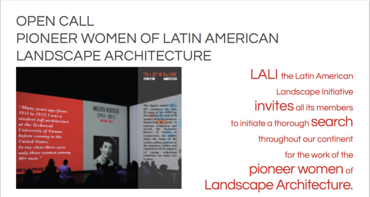 Open Call: Pioneer Women of Latin American Landscape Architecture, LALI - IAWA