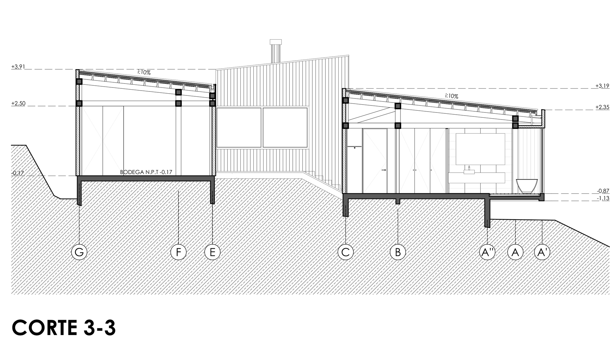 Gallery of las escaleras country house prado arquitectos for Escaleras en planta
