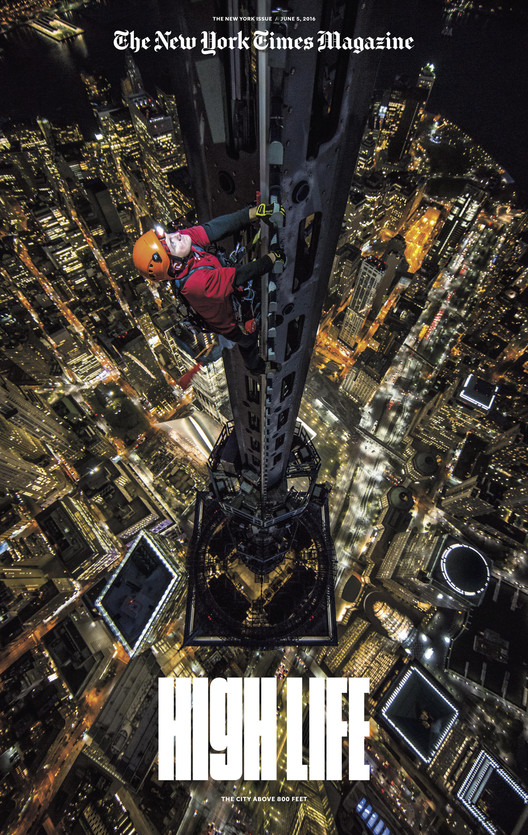 "In ""Man on Spire"" The New York Times Magazine Brings VR to One World Trade Center's Pinnacle, Courtesy of The New York Times Magazine"