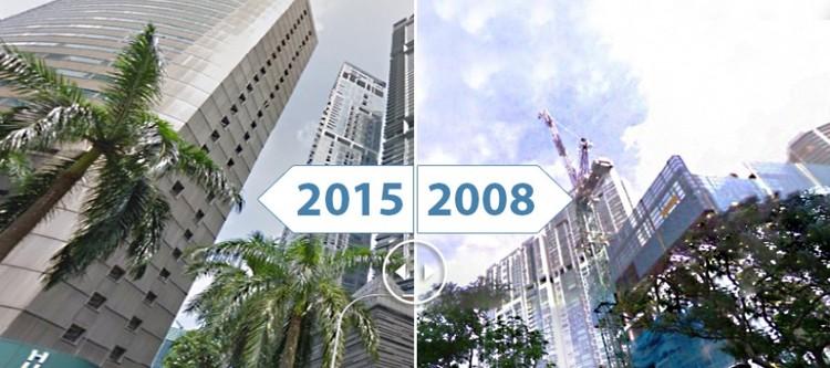 Imagens do passado e presente mostram o crescimento urbano de 16 cidades, Cortesia de RENTCafe