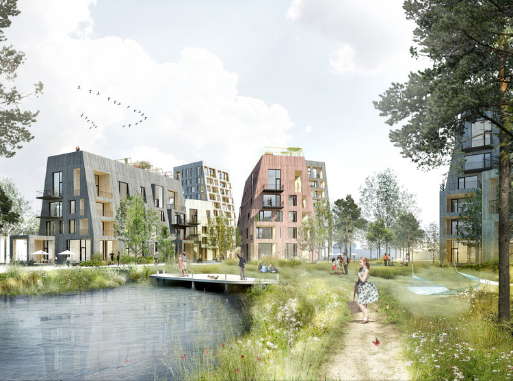 C.F. Møller's Proposal for the Örebro Timber Town Blurs the Line Between City and Nature, Courtesy of C.F. Møller