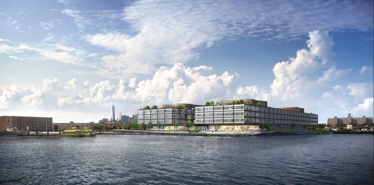 Foster + Partners Designs A Mixed-Use Office Complex for the Red Hook Waterfront in Brooklyn, Courtesy of Foster + Partners