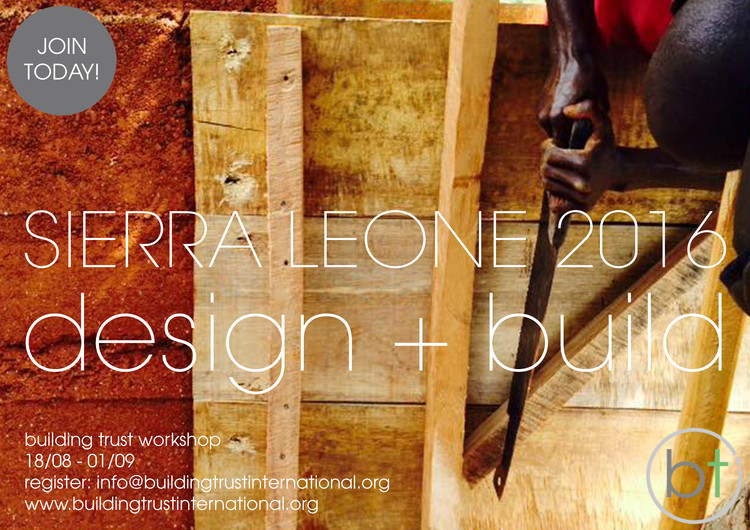 Building Trust International's African Design + Build workshop