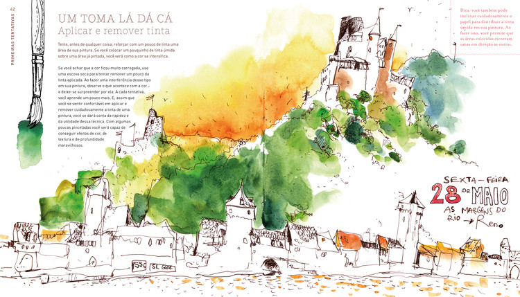 Cómo diseñar, pintar y contar historias con acuarelas, según Felix Scheinberger, © Editora Gustavo Gili Brasil