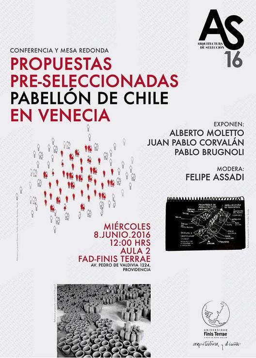 Conferencia y mesa redonda: Propuestas pre seleccionadas Pabellón de Chile en Venecia