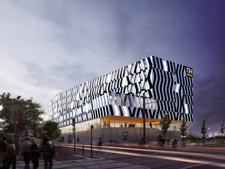 atelier d'architecture King Kong Unveils Design for the NH Hotel at the Toulouse Blagnac Airport, Courtesy of atelier d'architecture King Kong