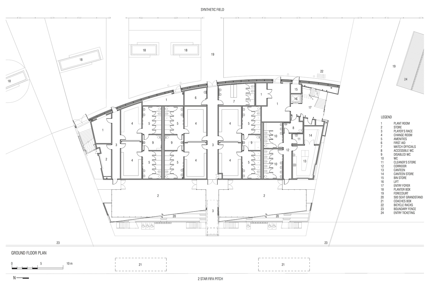 Gallery Of Ballarat Regional Soccer Facility K20 Architecture 12 2010 Honda Crv Fuse Box Facilityground Floor Plan
