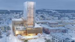 White Arkitekter Designs Nordic Region's Tallest Timber Building for Skellefteå Cultural Center