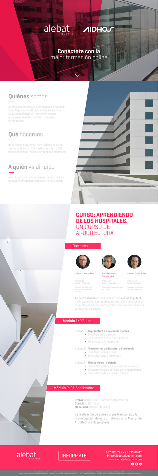 Aprendiendo de los hospitales un curso de arquitectura for Cursos de arquitectura uni